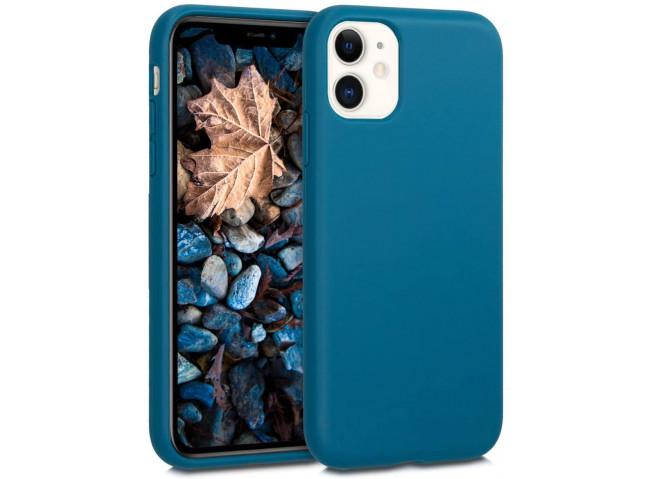 Coque iPhone 12/12 Pro Silicone Biodégradable-Bleu Marine