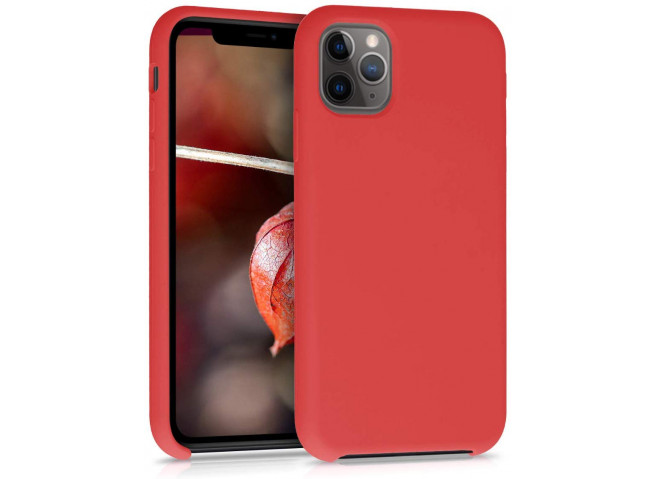 Coque iPhone 11 Silicone Gel-Rouge