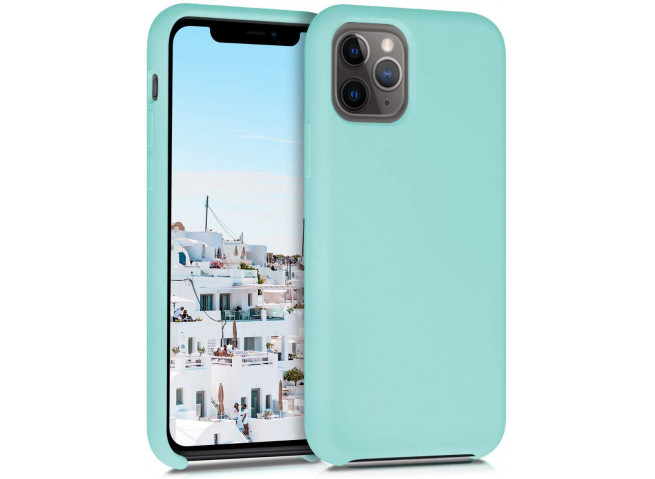 Coque iPhone 11 Silicone Gel-Turquoise