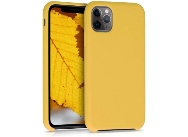 Coque iPhone 11 Silicone Gel-Jaune