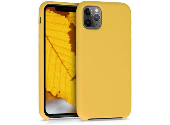 Coque iPhone 11 Pro Silicone Gel-Jaune
