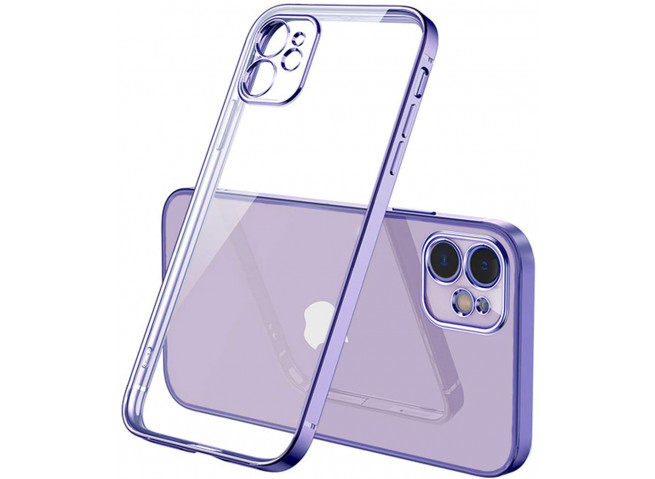 Coque iPhone 12/12 Pro Metal Clear Purple