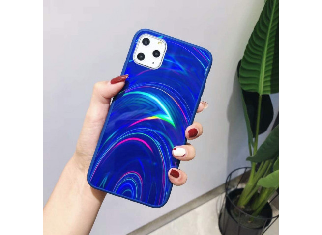 Coque iPhone 11 Laser Protect-Bleu