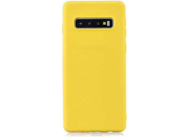 Coque Samsung Galaxy S10 Yellow Matte Flex