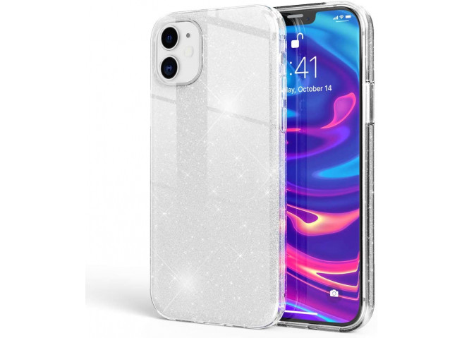 Coque iPhone 12/12 Pro Glitter Protect-Argent