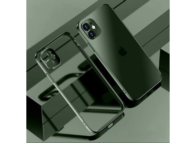 Coque iPhone 12/12 Pro Metal Clear Green