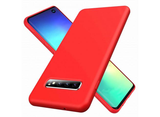 Coque Samsung Galaxy S10 Plus Red Matte Flex
