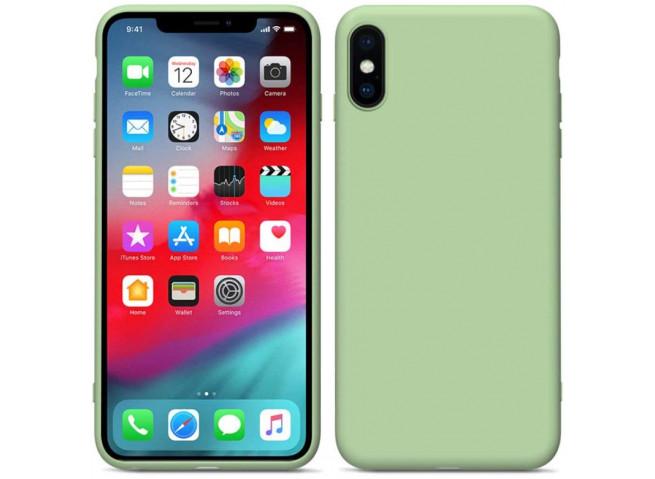 Coque iPhone X/XS Matcha Green Matte Flex