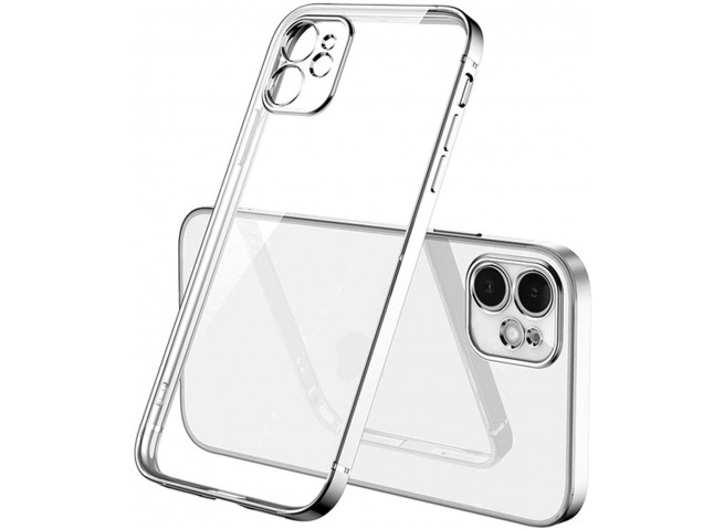 Coque iPhone 12/12 Pro Metal Clear Silver