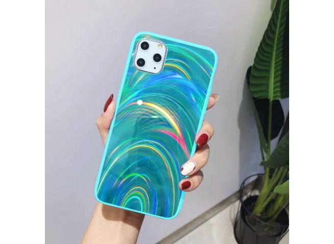 Coque iPhone 11 Laser Protect-Vert