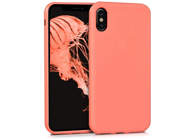 Coque iPhone XS Max Coral Matte Flex