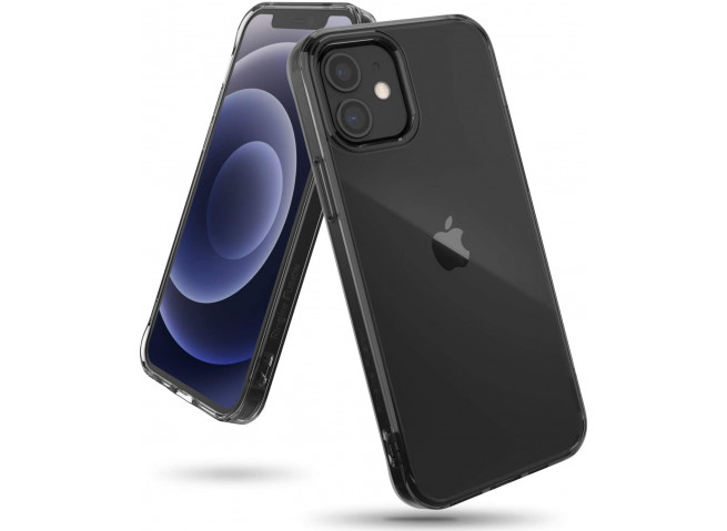 Coque iPhone 12/12 Pro Anti Choc Ringke Smoke Black