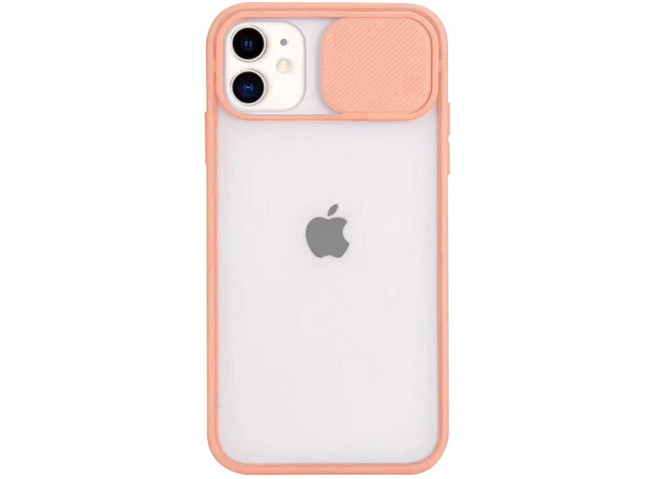 Coque iPhone 12/12 Pro Cache Objectif-Rose