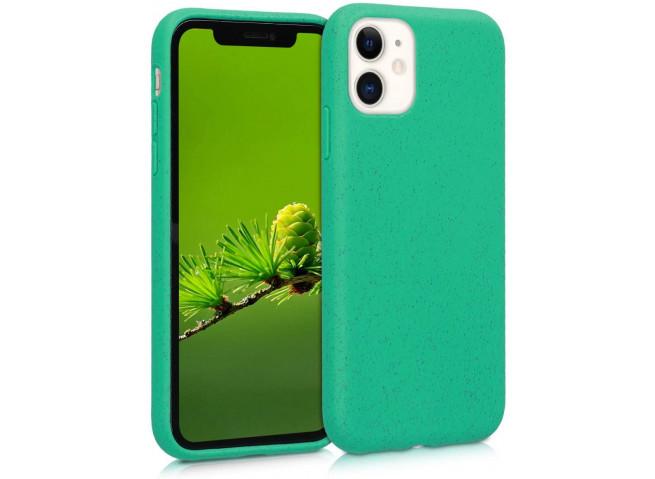 Coque iPhone 12 Mini Silicone Biodégradable-Vert