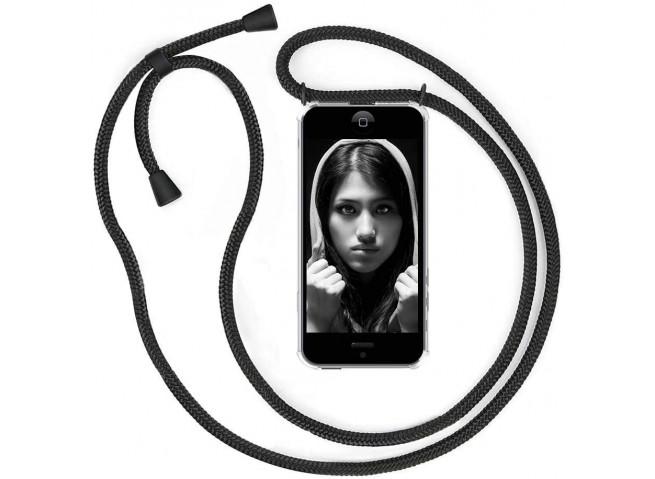 Coque iPhone 7 Plus/8 Plus Necklace Clear Shock + 1 tour de cou offert