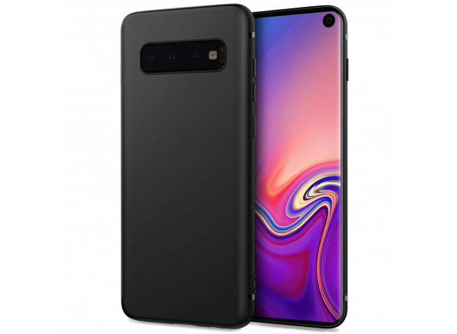 Coque Samsung Galaxy S10 Plus Black Matte Flex