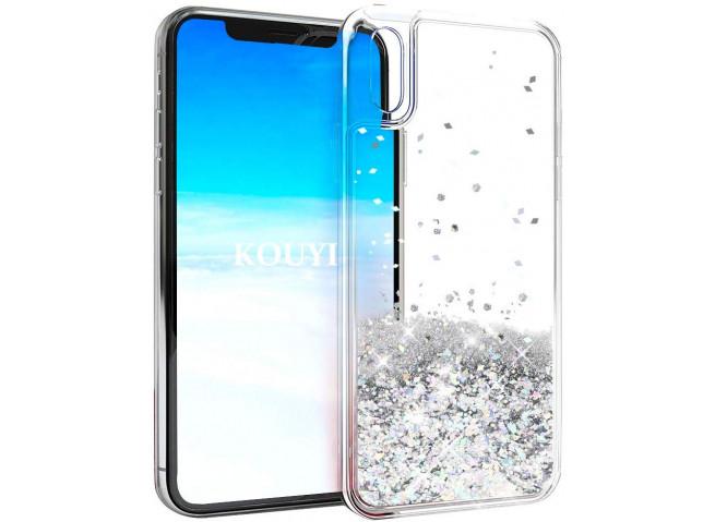 Coque iPhone XR Liquid-Argent