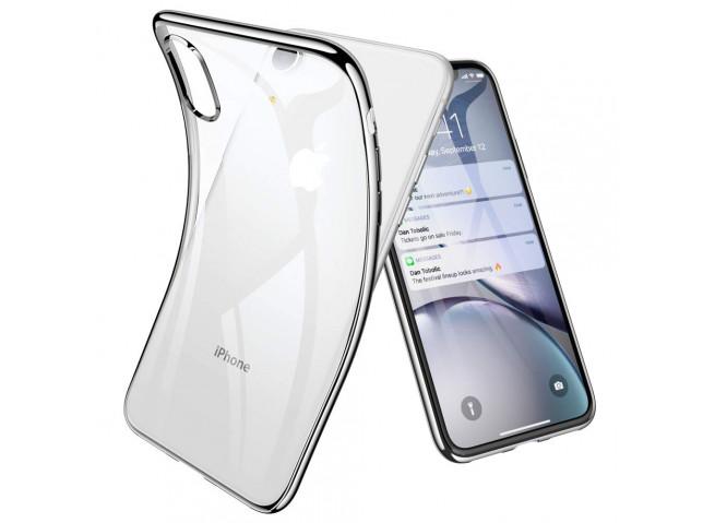 Coque iPhone XR Silver Flex