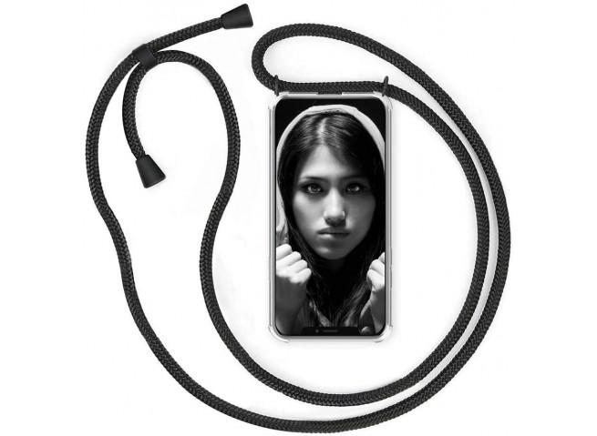 Coque iPhone X/XS Necklace Clear Shock + 1 tour de cou offert
