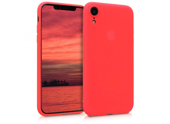 Coque iPhone XR Red Matte Flex
