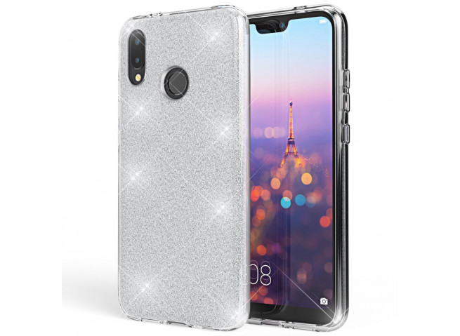 Coque Huawei P20 Glitter Protect-Argent