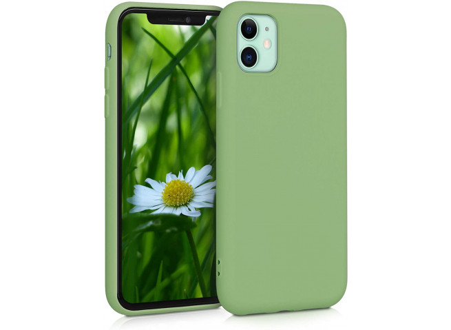 Coque iPhone 11 Matcha Green Matte Flex