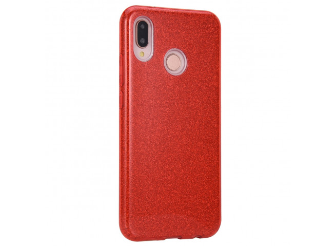 Coque Huawei P20 Lite Glitter Protect-Rouge