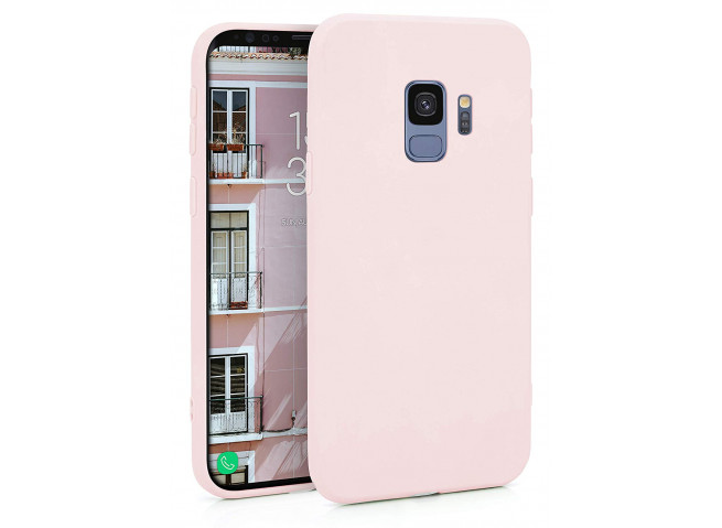 Coque Samsung Galaxy S9 Light Pink Matte Flex
