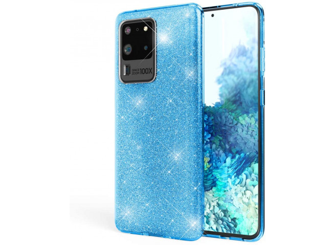 Coque Samsung Galaxy S20 Ultra Glitter Protect-Bleu