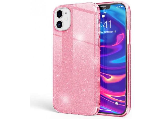 Coque iPhone 12 Mini Glitter Protect-Rose