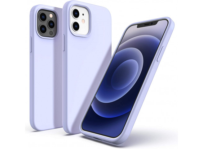 Coque iPhone 12 Mini Silicone Gel-Lila