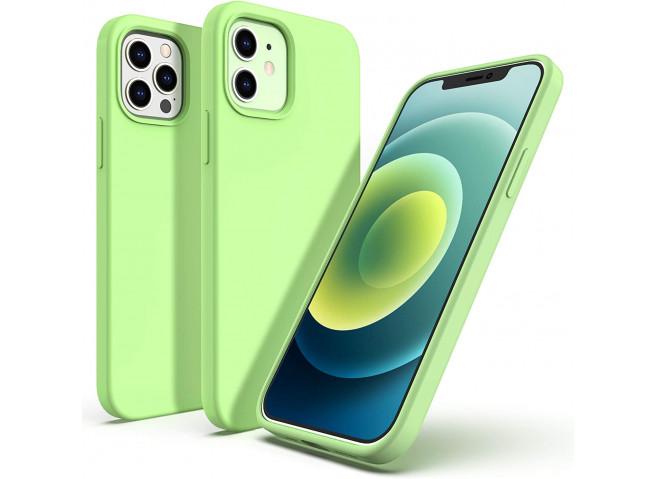 Coque iPhone 12/12 Pro Silicone Gel-Matcha