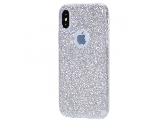 Coque iPhone XS Max Glitter Protect-Argent