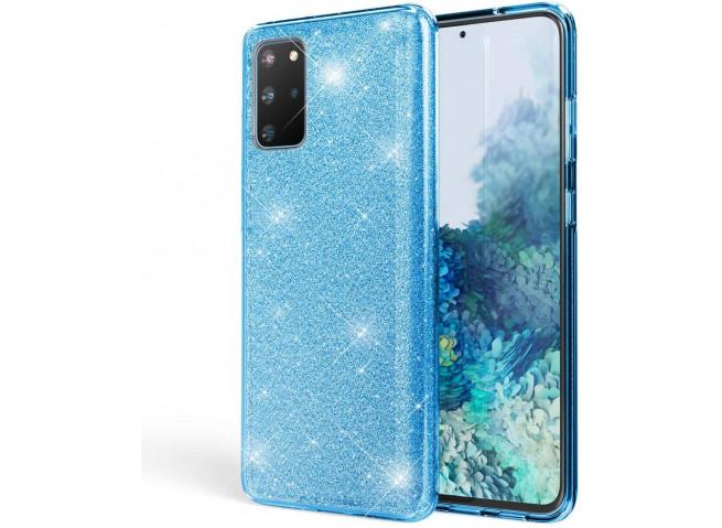 Coque Samsung Galaxy S20 Glitter Protect-Bleu