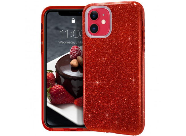 Coque iPhone 11 Glitter Protect-Rouge