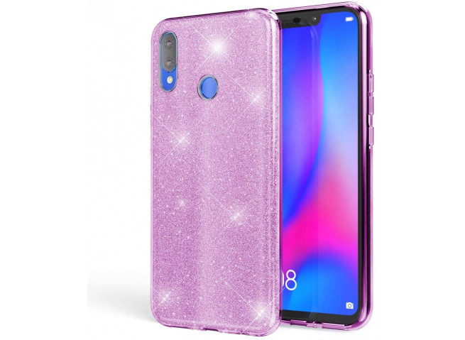 Coque Huawei Y7 2019 Glitter Protect-Violet