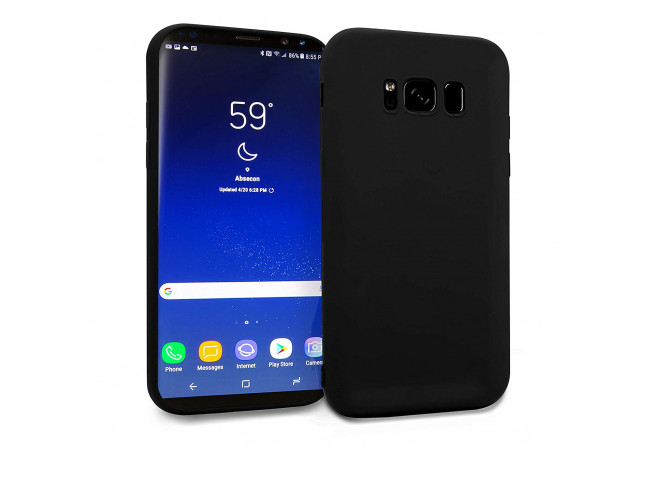 Coque Samsung Galaxy S8 Black Matte Flex