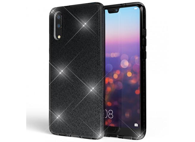 Coque Huawei P20 Glitter Protect-Noir