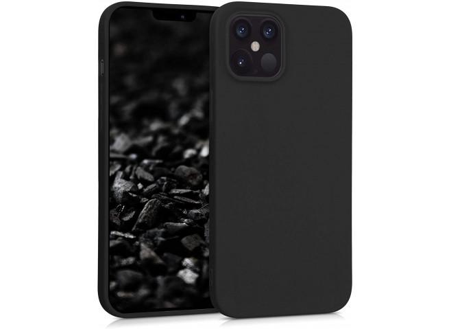 Coque iPhone 12/12 Pro Black Matte Flex