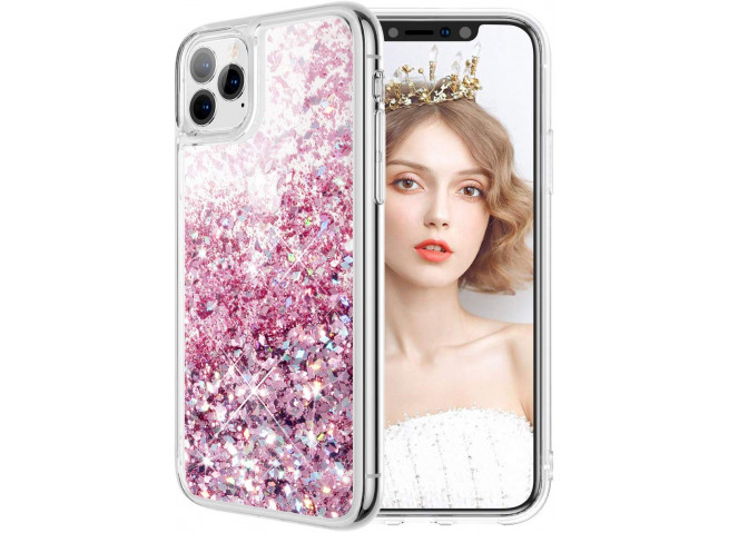 Coque iPhone 11 Liquid-Rose