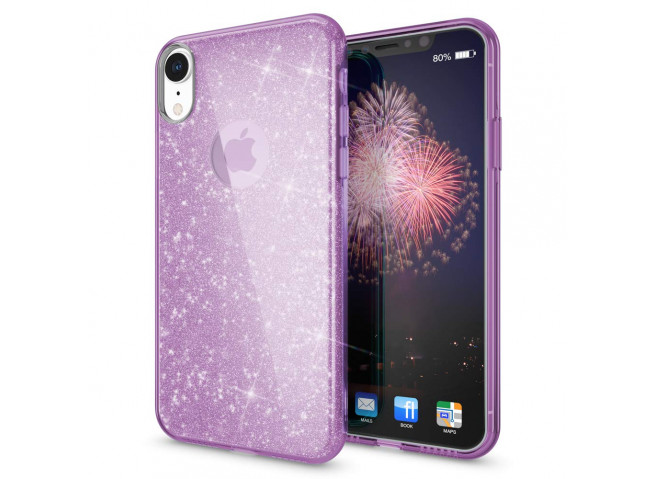 Coque iPhone X/XS Glitter Protect-Violet