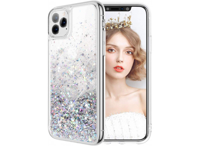 Coque iPhone 11 Pro Max Liquid-Argent