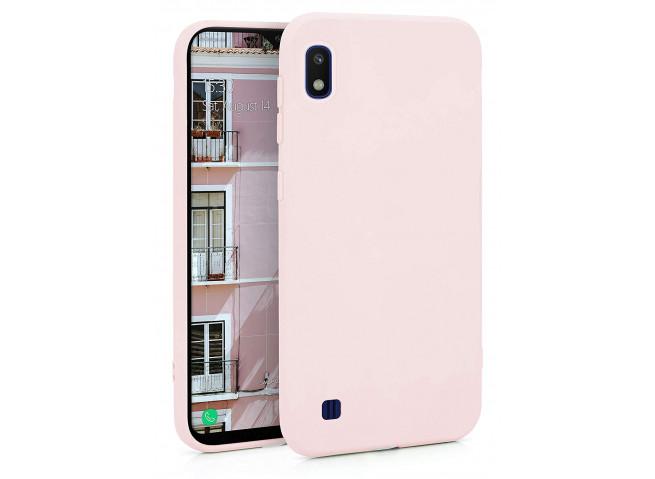 Coque Samsung Galaxy A10 Light Pink Matte Flex