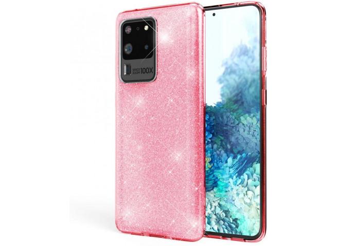 Coque Samsung Galaxy S20 Ultra Glitter Protect-Rose