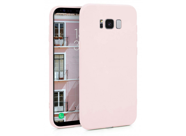 Coque Samsung Galaxy S8 Light Pink Matte Flex