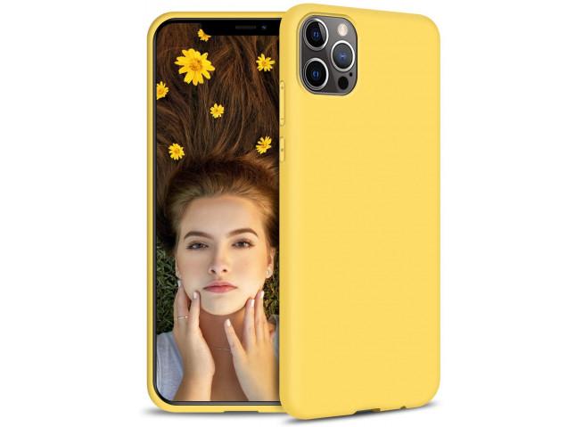Coque iPhone 12 Pro Max Yellow Matte Flex