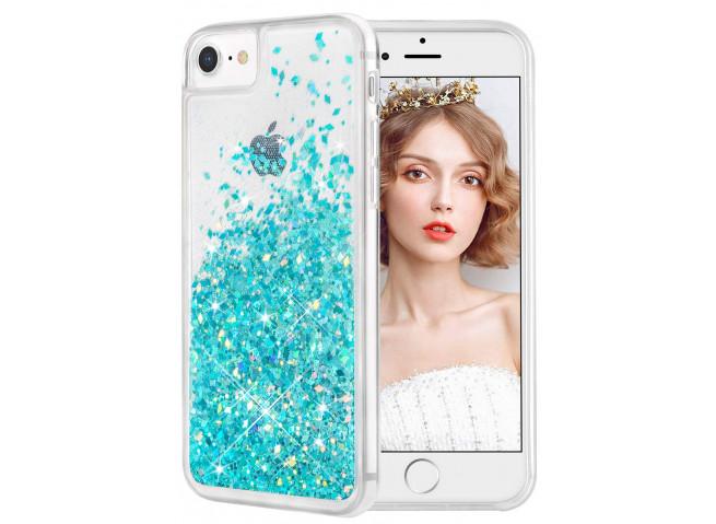 Coque iPhone 5/5S/SE Liquid Pearls-Bleu