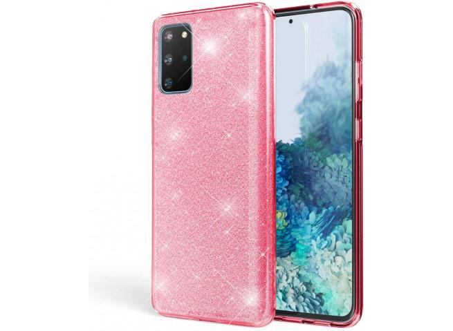 Coque Samsung Galaxy A21S Glitter Protect-Rose
