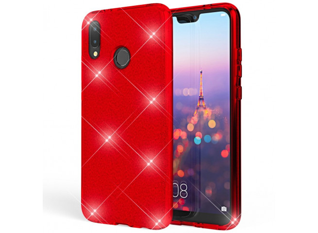 Coque Huawei P20 Glitter Protect-Rouge