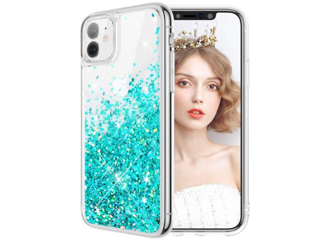 Coque iPhone 11 Liquid-Bleu